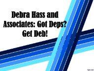Debra Hass and Associates: Got Deps? Get Deb!