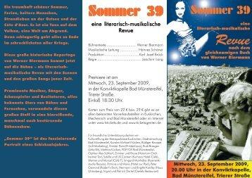 Sommer 39 Sommer 39 Sommer 39 Sommer 39 - Abend der Lieder