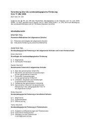 Verordnung über die sonderpädagogische ... - Kleine Lauscher