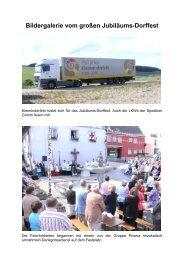Bildergalerie vom großen Jubiläums-Dorffest