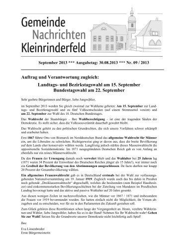 09 - September 2013 - Gemeinde Kleinrinderfeld