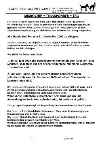 Tierarztpraxis am Mühlgrund - Eva Panner-Frisch