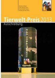 Ausschreibung TW Preis 2013 - Kleintiere Schweiz