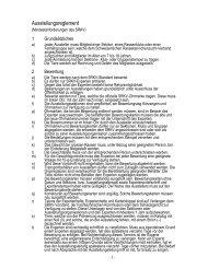 Ausstellungsreglement - Kleintiere Schweiz