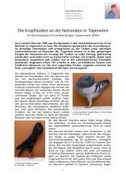 Aussgtellungsbericht Kropftauben - Kleintiere Schweiz