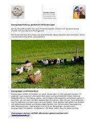Zwergziegen, Merkblatt - Kleintiere Schweiz