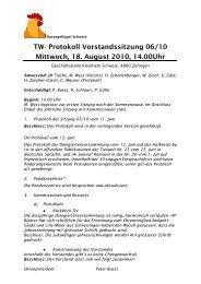 Protokoll 18.08.2010 - Kleintiere Schweiz