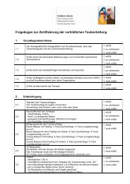 Tauben, Fragebogen - Kleintiere Schweiz