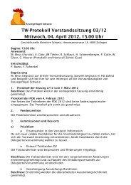 Protokoll 04.04.2012 - Kleintiere Schweiz