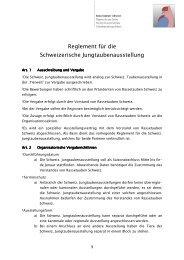 Reglement Jungtaubenausstellung - Kleintiere Schweiz