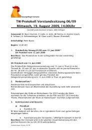 Protokoll 19.08.2009 - Kleintiere Schweiz
