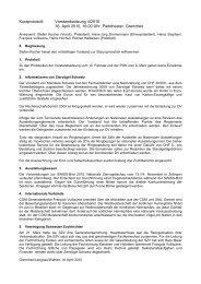 Kurzprotokoll Vorstandssitzung vom16.04.2010 - Kleintiere Schweiz