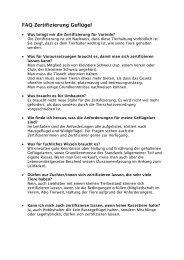 FAQ Zertifizierung Geflügel - Kleintiere Schweiz