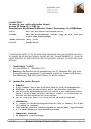 Vorstandsprotokoll 25.01.2014 - Kleintiere Schweiz