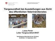 Ausstellungen und Tierhandel - Kleintiere Schweiz
