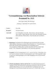 Protokoll 13.09.2013 - Kleintiere Schweiz