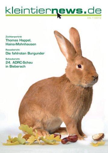 kleintiernews.de 10/2012 - Kaninchen