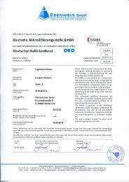 Deutsche Akkreditierungsstelle GmbH Deutschen Kalibrierdienst