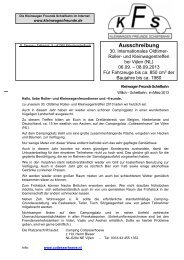 Ausschreibung - Kleinwagen Freunde Schiefbahn