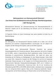 Stellungnahme - Kleinwasserkraft Österreich