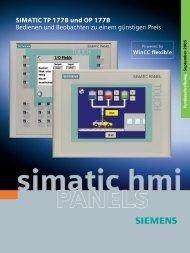 SIMATIC TP 177B und OP 177B Bedienen und Beobachten zu ...