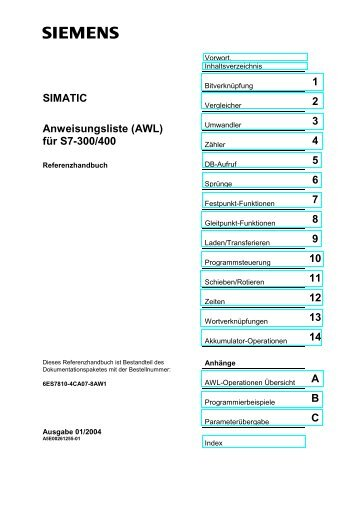 SIMATIC Anweisungsliste (AWL) für S7-300/400 - H