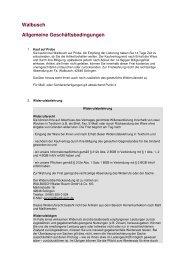 Walbusch Allgemeine Geschäftsbedingungen