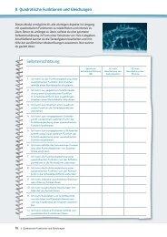Quadratische Funktionen und Gleichungen (PDF-Datei)