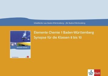 Synopse Klasse 8 bis 10 Elemente 1 Baden-Württemberg