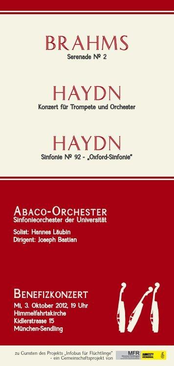 BraHms Haydn Haydn - Abaco Orchester