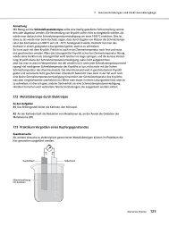7.12 Metallüberzüge durch Elektrolyse 7.13 Praktikum Vergolden ...