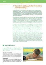 1. Was ist die pädagogische Perspektive auf Entwicklung?
