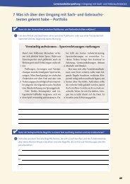 7 Was ich über den Umgang mit Sach- und Gebrauchs- texten ...