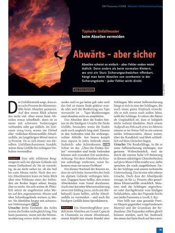 Typische Unfallmuster beim Abseilen verhindern - Kletter-Freun.de