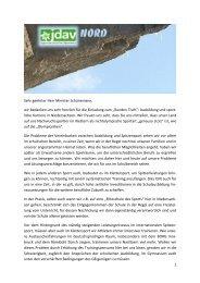 Brief an Schünemann - Klettern im Norden