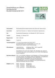 Ausschreibung (pdf) - Klettern im Norden