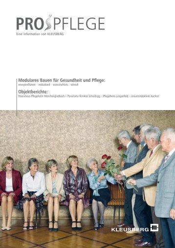 PROJEKTREPORT PROPFLEGE > > > Pflegeheimprojekte