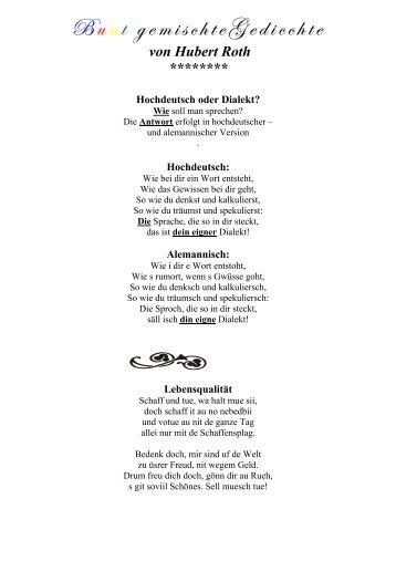 Bunt gemischte Gedichte