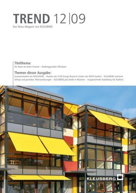 TREND 12 09 (Nr. 20) - Kleusberg GmbH & Co. KG