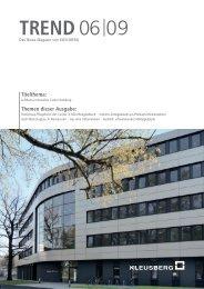 TREND 06 09 (Nr. 19) - Kleusberg GmbH & Co. KG