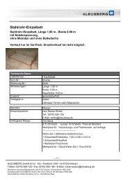 Stahlrohr-Einzelbett - Kleusberg GmbH & Co. KG