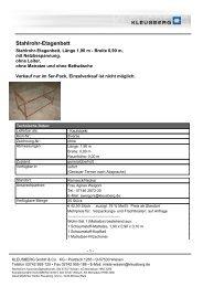 Stahlrohr-Etagenbett - Kleusberg GmbH & Co. KG