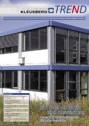 trend 14.indd - Kleusberg GmbH & Co. KG
