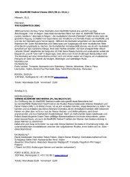 KlezMORE Konzertinformationen 2013