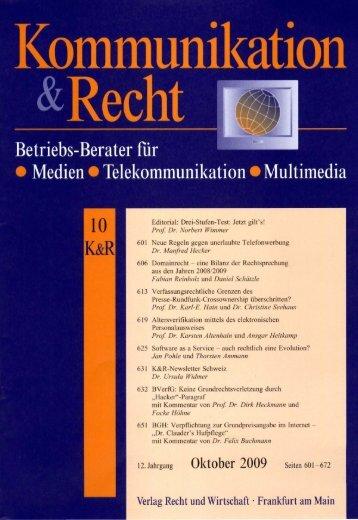 Aufspaltung des Online-Nutzungsrechts unzulässig, LG München I