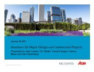 Insurance for Major Design and Construction Projects - K&L Gates