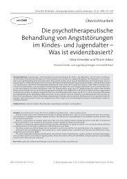 Die psychotherapeutische Behandlung von Angststörungen im ...