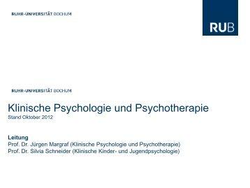 Einführung B.sc. Klin. Psychologie - Arbeitseinheit Klinische ...