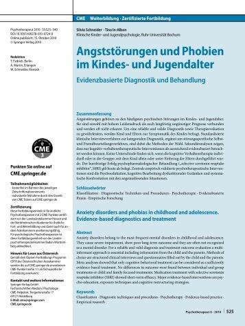(2010). Angststörungen und Phobien im Kindes- und Jugendalter