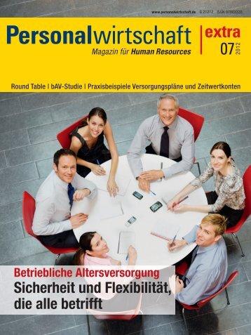 Sonderheft Personalwirtschaft extra 7/2012 - Kliemt & Vollstädt